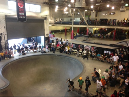 ea8d5d5209 Here is one view of the Ontario Mills skatepark.